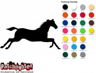 Pferd Reiten Bügelbild Flex Folie Hotfix Aufbügler Transferfolie