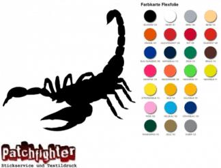 Skorpion Bügelbild Flex Folie Hotfix Scorpion Horoskop Aufbügler