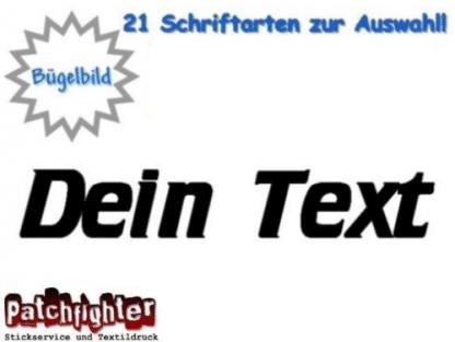 Text Hotfix Bügelbild 5cm breit Flexfolie Wunschtext zum Aufbügeln