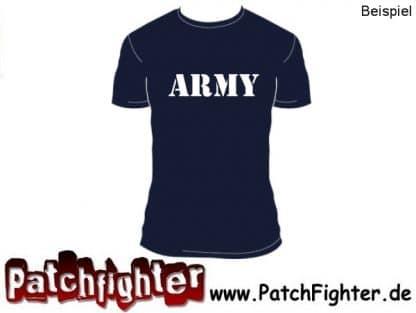 Bügelbild Wunschtext Army Design Beispiel