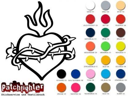 Herz Tattoo Bügelbild Flexfolie Aufbügler Bügelmotiv Hotfix Love Liebe