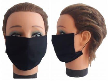 Gesichtsmaske schwarz Unisex Mund-Nasen-Maske Baumwolle Maske wiederverwendbar