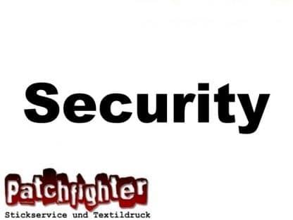 Security Bügeltext 15cm zum selber aufbügeln Flexfolie-Bügelbild-Flex-Hotfix