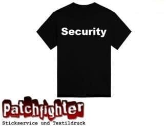 Security Bügeltext 30cm zum selber aufbügeln Flexfolie-Bügelbild-Flex-Hotfix01