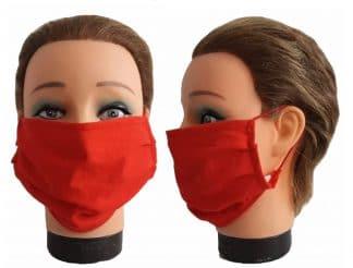 Gesichtsmaske Rot Unisex Mund-Nasen-Maske Baumwolle Maske wiederverwendbar
