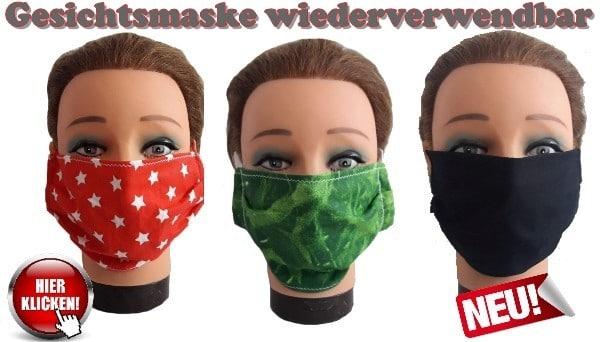Altagsmaske Gesichtsmaske Maske Mund-Nasen-Maske Mundmaske