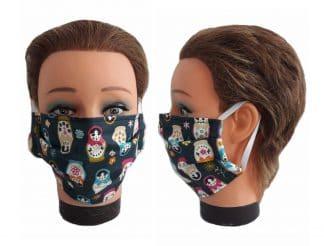 Gesichtsmaske Matroschka Maske Babuschka Mundmaske wiederverwendbar