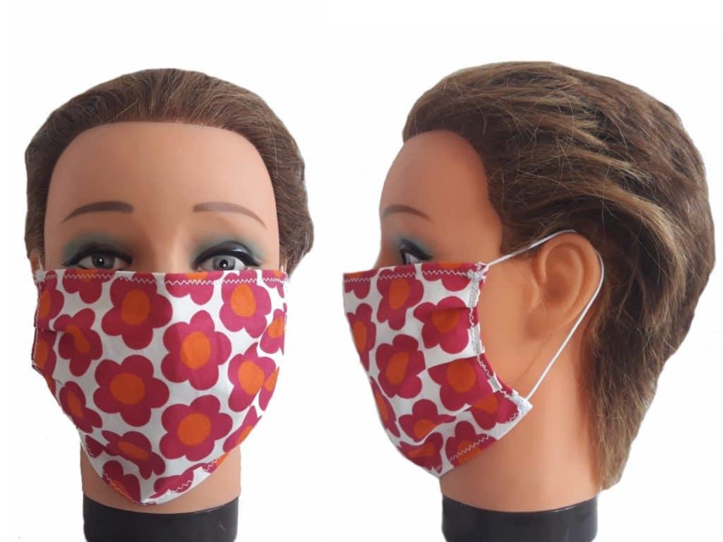 Gesichtsmaske Blumen Flower Maske Baumwolle Mundmaske wiederverwendbar